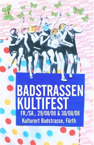 Flyer Badesaison Kultifest 2008 Vorderseite