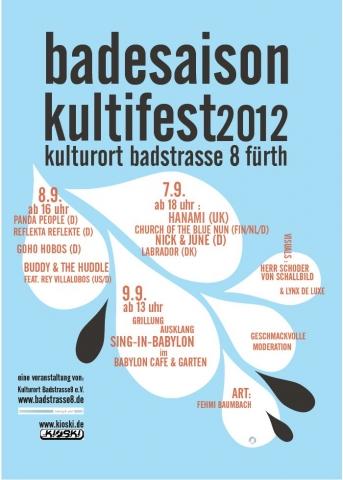 Flyer Badesaison Kultifest 2012 Vorderseite