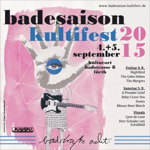 Flyer Badesaison Kultifest 2015 Vorderseite