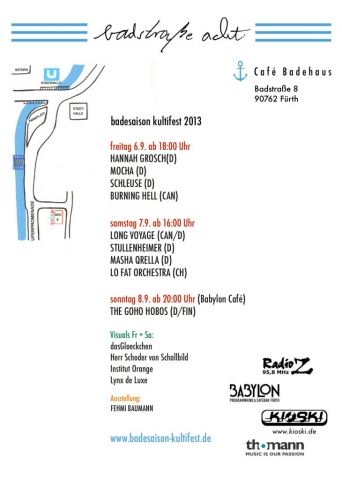 Flyer Badesaison Kultifest 2013 Rückseite