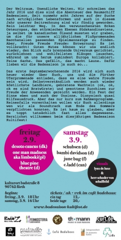 Flyer Badesaison Kultifest 2016 Rückseite