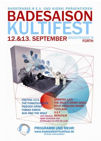 Flyer Badesaison Kultifest 2014 Vorderseite